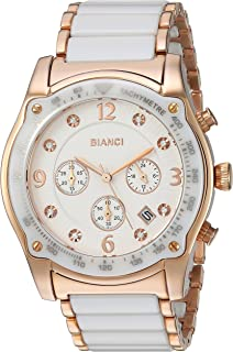 ROBERTO BIANCI WATCHES Women's 'Simona' Swiss Quartz Stainless Steel and Ceramic Casual Watch, Color:Two Tone (Model: RB58741)