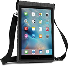 USA GEAR Case Protective Carry Cover Compatible with 10.5-inch iPad Pro - FlexARMOR X T10 Travel Bag with Built-in Capacitive Touch Screen Protector and Adjustable Shoulder Carrying Strap (Gray)