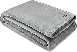 Nautica Solid Ultra Soft Plush Blanket, Twin, Grey