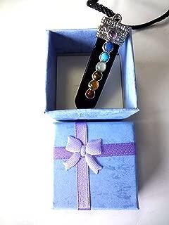 天然石 アミュレット 7色 ネックレス ペンダント ギフト ボックス 付き (剣 ツルギ)