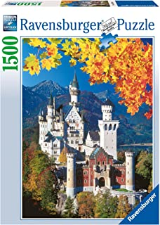 Ravensburger Neuschwanstein Castle 1500 Piece Jigsaw Puzzle for Adults – Softclick Technology Means Pieces Fit Together Perfectly