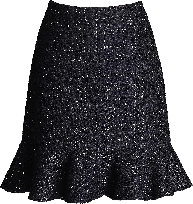 ATHX Women Mermaid Mini Skirt Solid Fishtail Short Skirt