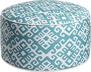 Art Leon Outdoor Inflatable Ottoman Turquoise Round Patio Footstool for Kids and Adults, Patio, Deck, Front Porch, Backyard, Garden