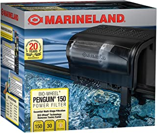 Marineland Penguin Bio-Wheel Power Filter 150 GPH, Multi-Stage aquarium Filtration