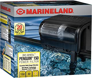 Marineland Penguin Bio-Wheel Power Filter 200 GPH, Multi-Stage aquarium Filtration