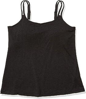 Amoena Women's Valetta Pocketed Camisole with Built in Shelf Bra, Charcoal Melange
