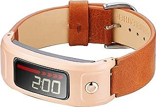 Compatible Garmin Vivofit Bands,Classy Genuine Leather Strap Compatible Garmin Vivofit/Vivofit 2 Bands/Garmin Vivofit 2 Band,NOT for Garmin Vivofit 3/JR/HR