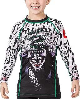 Fusion Fight Gear Batman The Killing Joke kids Rash Guard Compression Shirt (Small)