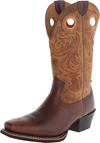 ARIAT - Chaussures Sport Western Western à Bouts carrés pour Hommes, 42.5 M EU, Fiddle marron Powder marron