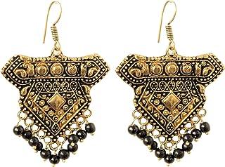 Sansar India Dangler Earrings for Women (Golden) (647)
