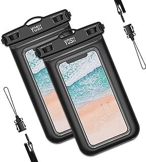 2枚セット 2019最新版 スマホ防水ケース IPX8認定 iPhone 11 Pro Max X XR XS 8 7 Androidに対応 水中 撮影 タッチ可 風呂 海 プール 釣り 雨 潜水 水泳 雪 温泉など適用 YOSH 防水カバー 防水ケース スマホ用 永久保証 黒