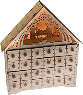 """Clever Creations Nativity Scene Advent Calendar Wooden 24 Day Countdown to Christmas Advent Calendar 