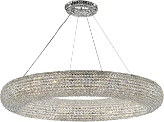 "Crystal Ring Chandelier Modern/Contemporary Lighting Floating Orb Chandelier 59"" Wide - Good for Dining Room, Foyer, Entryway, Family Room and More!"