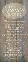 """House Blessing Wood Plaque Inspiring Quote 5.5""""x12"""" – Classy Vertical.."""