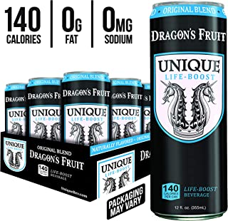 Unique Life Boost Keto Friendly Functional Beverage   Healthy Caffeine Drink   Natural Green Tea Reishi Mushroom Extract Low Calorie   Pure Cane Sugar, 12oz Cans 12 Pack