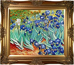 overstockArt Van Gogh Irises Painting with Victorian Gold Finish Frame
