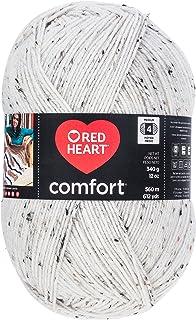 RED HEART E707D.5100Red Heart Comfort Flecks Yarn Red Heart, Cream Fleck