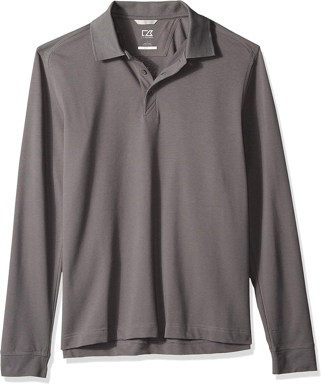 Cutter & Buck Mens 35+UPF, Long Sleeve Advantage Polo Shirt Polo Shirt