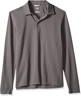 Cutter & Buck Men's 35+UPF, Long Sleeve Advantage Polo Shirt