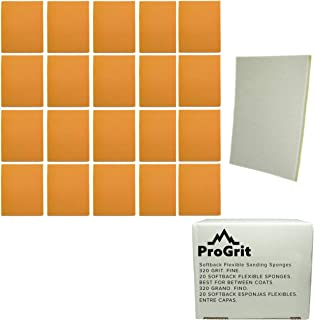 20 Pack ProGrit Sanding Sponges 320 Grit Fine Between Coats Hand Sander Pads Flexible Softback Wet Dry