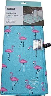 Harman Dish Dry Mat - 15x20 Stylish Prints Microfiber (Flamingo)