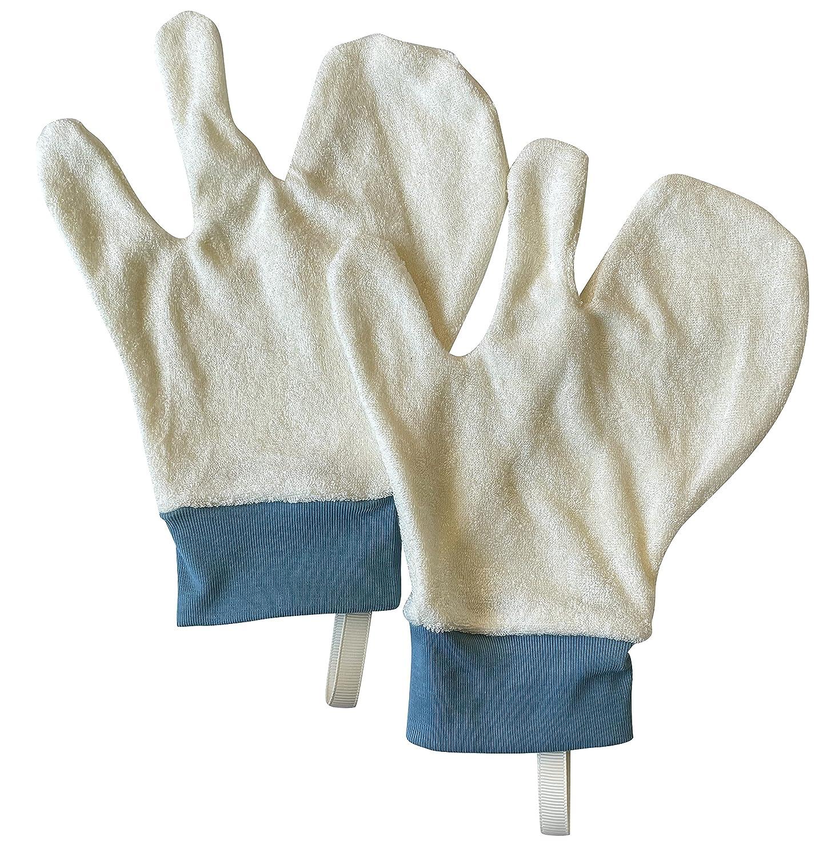 Baby Outstanding Organic Bamboo Bath Mitt Shower Rapid rise Wash Gloves - Pair Newbor