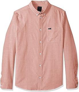 RVCA Men's Thatll Do Stretch Long Sleeve Button Up Shirt