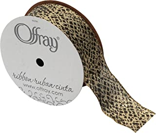 Offray Animal Print Ribbon, 1-1/2