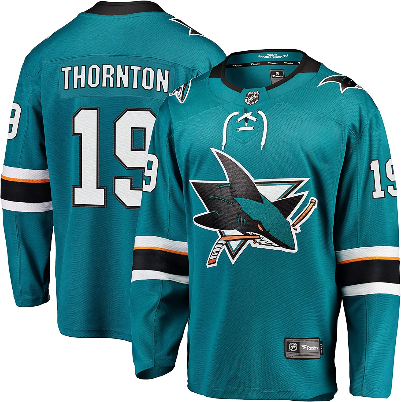 Joe Thornton San Jose Sharks NHL Fanatics Breakaway Home Jersey