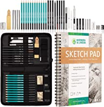 """XXL Drawing Set - Sketching and Charcoal Pencils. 100 Page (Full 9x12"""") Drawing Pad, Kneaded Eraser, and Graphite. Art Set..."""