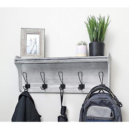 Coat Rack With Shelf Entryway Organizer Bathroom Towel Rack With Shelf Farmhouse Coat Rack