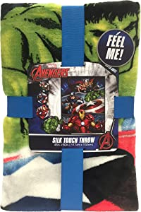 "Marvel Avengers Destroyer Plush Throw, 46"" X 60"""