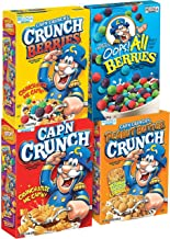 Quaker Cap'n Crunch Breakfast Cereal, 4 Flavor Variety Pack, 14oz Boxes (4 Pack)