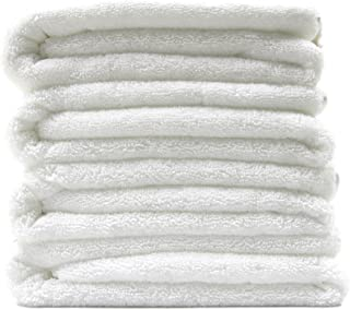 Polyte Premium Quick Dry Lint Free Microfiber Bath Towel, 57 x 30 in, Set of 4 (White)