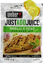 Weber Just Add Juice Marinade Mix, Garlic and Herb, 1.12 Ounce (Pack of 12)