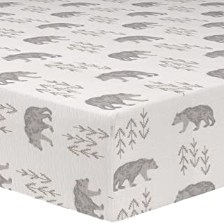 Liz and Roo Cubby Crib Sheet, Gray/Taupe