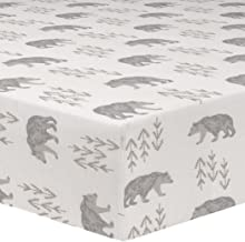 product image for Liz and Roo Cubby Crib Sheet, Gray/Taupe