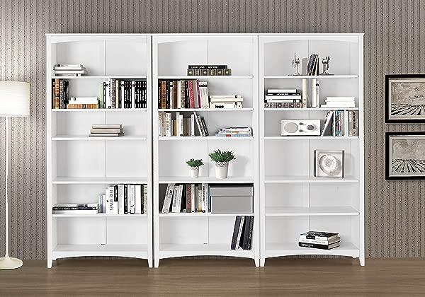 Camaflexi SHK343 Shaker Style Bookcase 72 White