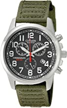 Citizen Watches AT0200-05E Eco-Drive Chronograph Canvas Watch