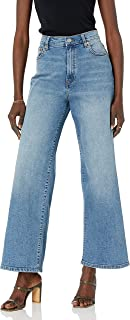 The Drop Lizzy Jeans de Pierna Ancha para Mujer, Talle Alto, Ajuste Estilo Marine