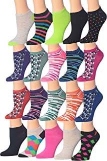 Tipi Toe Women's 20 Pairs Colorful Patterned Low Cut/No...