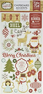 Echo Park Paper Company ILC114022 I Love Christmas 6 x 13 Chipboard