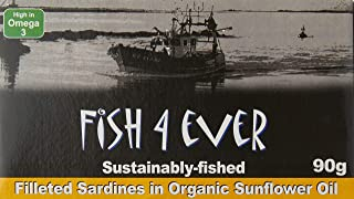 Fish4ever Sardine Fillets In Organic Sunflower Oil, 90g