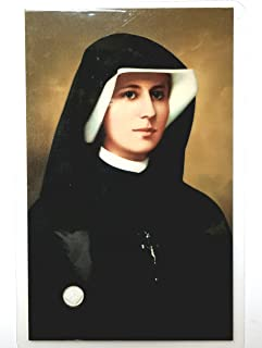 Saint Faustina Kowalska Mystic Visionary True Relic 3rd Class Visible Cloth Card Apostle Divine of Mercy Miraculous Jesus I Trust in You Rosary Based Three O' Clock Prayer Poland Polish Novena