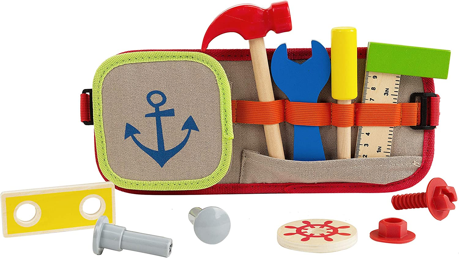 Tool Belt Set for Kids 4 Wooden Building Max 80% OFF 8 Construction Cheap sale Tools
