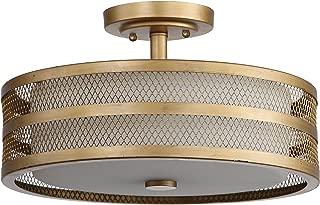 Safavieh Lighting Collection Greta Veil Antique Gold 9.6-inch Ceiling Light