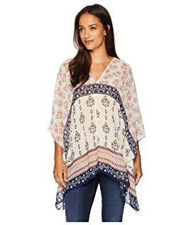 Tile Wildflower Poncho