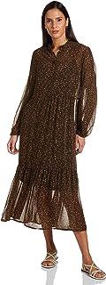 Vero Moda womens ELINA LONG-SLEEVE ALL OVER PRINT Dress