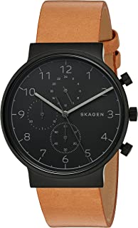 Skagen Men's Skw6359 Ancher Leather Chronograph Watch