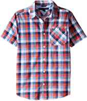 Tommy Hilfiger Kids - Wolfred Short Sleeve Woven Shirt (Big Kids)